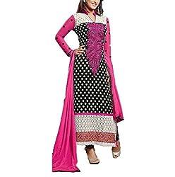 Akantik's Women's Georgette Unstitched Dress Material (JIYAKHN-L.K_Multi_Free Size)