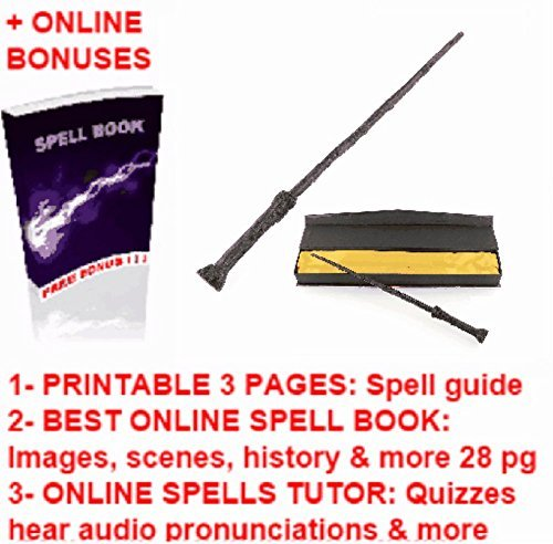 Harry Potter's Wands Replica + FREE: Harry Potter Magic Printable Spell Book Cheap
