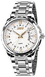 Skmei HMWA05S084C0 Analog White Dial Mens Watch