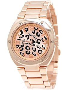 designer damenuhr moderne damen armband uhr in leopard optik rose gold schwarz inkl uhrenbox. Black Bedroom Furniture Sets. Home Design Ideas