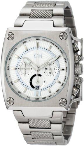 Carlo Monti - CM101-181 - Montre Homme - Quartz - Analogique - Chronomètre - Bracelet Acier inoxydable Argent