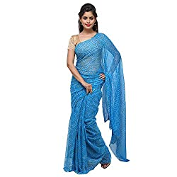 Aradhya Enterprises Women's Chiffon Saree-AE3321_Sky Blue