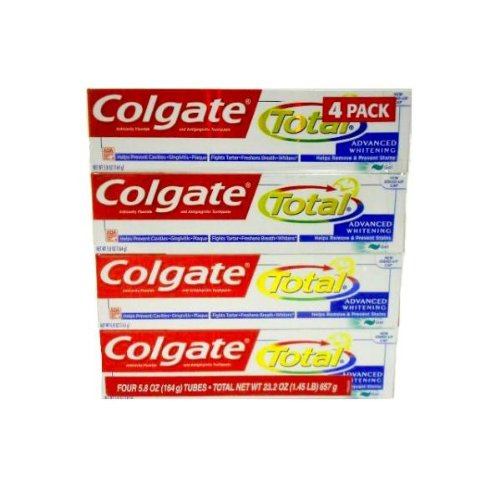 New - Colgate Toothpaste Total Advanced Whitening