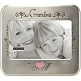 Malden Grandma Serendipity Metal Shiny Pewter Picture Frame, 4 by 6-Inch