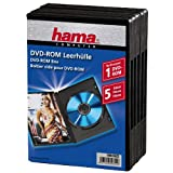 Hama Dvd-rom Jewel Case, Pack Of 5, Black