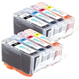 2 Compatible Sets of 4 HP 364 XL Printer Ink Cartridges - Black / Cyan / Magenta / Yellow for HP Photosmart 4622, 5510, 5515, 6510, 7510, B109a, B109c, B109d, B109f, B109n, B109q, B110a, B110c, B110d, B110e, B8550, B8553, C5380, C5383, C5390, C6300, C638