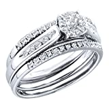 14K White Gold 1/4 ct. Diamond Bridal Engagement Set