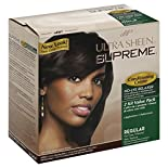 Ultra Sheen Supreme No-Lye Relaxer, Conditioning Creme, Regular for Fine/Normal Hair Texture, 2 applications