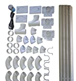 central vacuum installation kit for all homes rough in built in cvac 3 inlet kit with pipe by zvac
