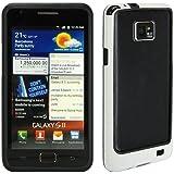 KGC_DOO (H4) Custodia BUMPER BIANCO BORDO NERO per Samsung Galaxy S2 S 2 I9100 I 9100 PLUS I9105 + Pellicola Proteggi Schermo in Omaggio