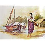 "Dolls Of India ""Fisher Woman From Maharashtra"" Reprint On Paper - Unframed (71.12 X 55.88 Centimeters)"