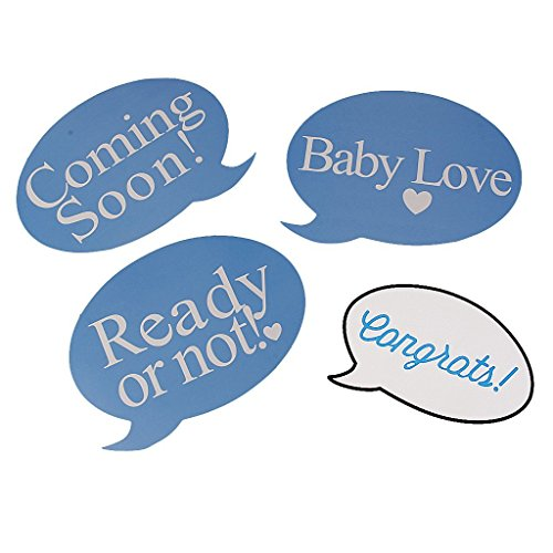 Tesoar It's A Boy Baby Shower Party Photo Booth Props Kits on Sticks Set of 31pcs