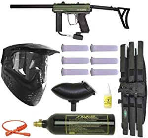 Spyder E-MR1 Paintball Marker Gun MEGA Set - Olive
