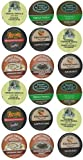 18 Pack - Flavored Coffee Variety Sampler K-Cup Pack for Keurig Brewers - Green Mountain Coffee Roasters French Vanilla and Hazelnut, Timothys Kahlua, Gloria Jeans Cappuccino and Hazelnut, Donut House Collection Cinnamon Roll and Chocolate Glazed Donut, Van Houtte French Vanilla and Raspberry Chocolate Truffle