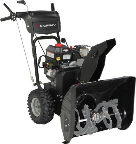 Gas Powered Snow Blowers : Murray inch cc gas powered dual stage snow