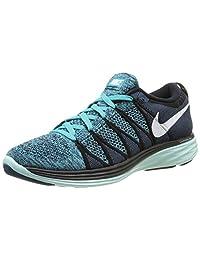 Nike Flyknit Lunar2 Black White Turquoise Blue Size 11.5 620465-004
