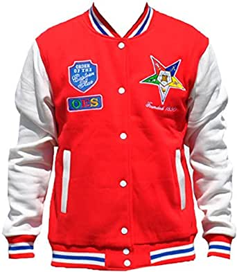 OES (Eastern Star) Women's Fleece Jacket Red at Amazon