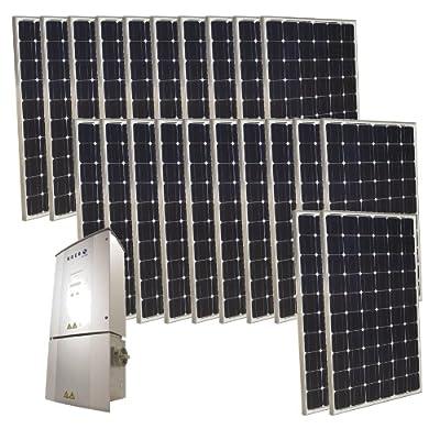 Grape Solar GS-5500-KIT 5500-Watt Monocrystalline PV Grid-Tied Solar Power Kit from Grape Solar-Dropship