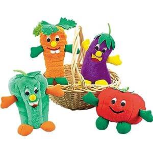 Zanies Polyester Giggling Veggies Dog Toy, 9-Inch, Pepper