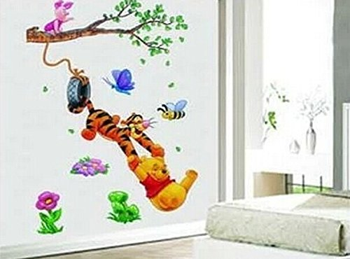 Rebecca Online Kids Room Decor Cartoon Wall Stickers Winnie the Pooh and Tigger Wall Sticker Kids Room Decor - 1