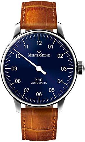 MeisterSinger No 03 AM908 Reloj automático con sólo una aguja Diseño Clásico