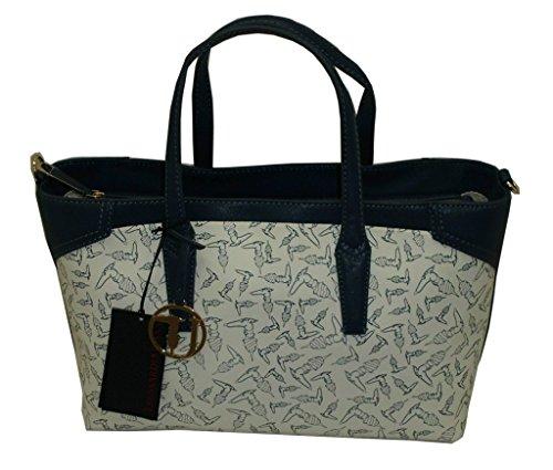 Borsa TRUSSARDI JEANS B602 handbag tote eco logo shopping BIANCO