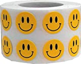 "Smiley Face Happy Stickers 1/2"" Round Circle Retail Labels 1,000 Total"