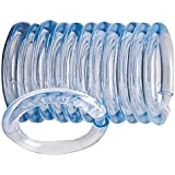 Homebasix Sd-oring-c3l Plastic Shower Curtain O-ring, 12 Piece, Clear