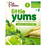 Plum Baby Organic Little Yums Spinach, Apple & Kale 4+ Mnths 6 x 14g