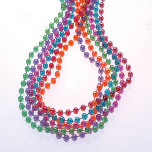 Lot Of 12 Assorted Color Pearlized Beaded Necklaces