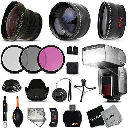 Ultimate 58mm FishEye Lens Accessory Kit for Sony Alpha a7II, a7IIK, Alpha 7 II, Alpha, 7, 7S, 7R, Alpha 7, Alpha a5100, (Sony Filter Kit compare prices)