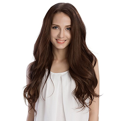 KINGHAIR Chocolate Brown(#4) Clip In Remy Hair Extensions - 22 Inches - 230G Full Head Set (Hair Extentions Full Head compare prices)