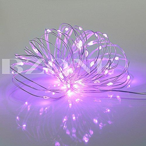 BZONE Purple Color Super Bright LED Rope Light Mini Micro LED String Light Copper Wire Fairy ...