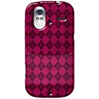 Amzer 92549 Luxe Argyle High Gloss TPU Soft Gel Skin Case - Hot Pink For HTC Amaze 4G