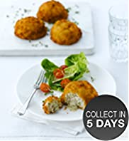 4 Melting Middle Cod Fish Cake with Parsley Sauce