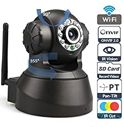 Sricam SP Series Wireless HD IP Wifi CCTV [Watch LIVE DEMO right now] indoor Security Camera (support upto 128 GB SD card) (Black Color)+ 4 in 1 Stylus Pen (Stylus+Pen+Laser+torch)
