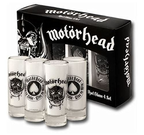 Motörhead Schnapsgläser Shot Glass 4er Set [Edizione: Germania]