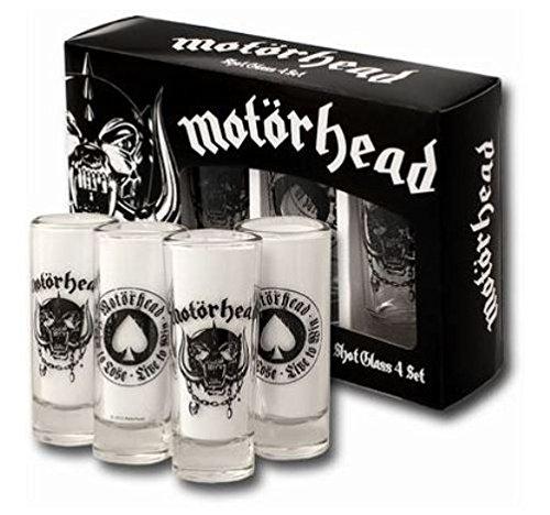 Motörhead Schnapsgläser Shot Glass 4er Set [Edizione: Germania]