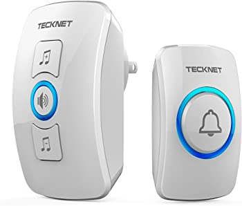 TeckNet Remote Waterproof Plug in Wireless Door Bell Chime Kit