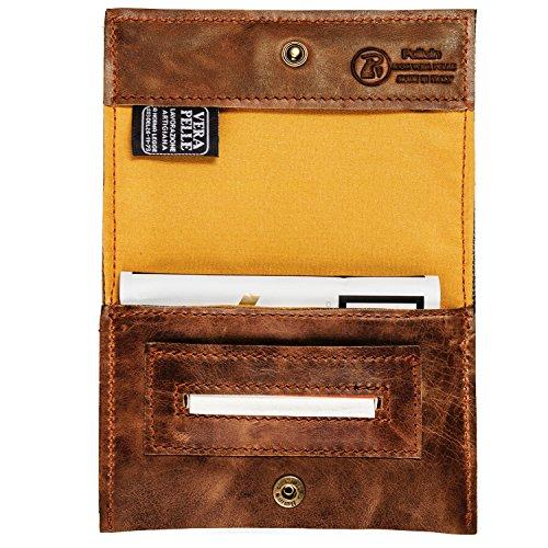 Portatabacco borsello astuccio in vera pelle - Porta pacchetto sigarette amazon ...