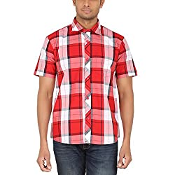 ALLTIMES Men's Red Color Shirts
