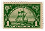 Postage Stamps United States. One Single 1 Cent Dark Green New Netherland Huguenot-Walloon Tercentenary Issue Stamp Dated 1924, Scott #614. by US Post Offive Dept., USPS