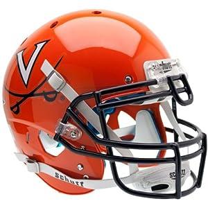 VIRGINIA CAVALIERS Schutt AiR XP Full-Size AUTHENTIC Football Helmet UVA (ORANGE) by ON-FIELD