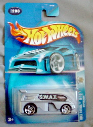 Hot Wheels 2003 Roll Patrol Hyperliner 9/10 #208 SILVER van SWAT 1:64 Scale - 1