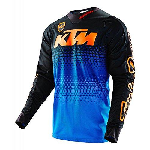 Maglia Moto Troy Lee Designs Se Starburst KTM Serie limitata, Blu/Arancione, M
