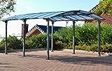 Palram Carport ARCADIA 5000Grau-Robuste Struktur für das ganze Jahr