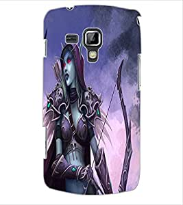 ColourCraft Dark Angel Design Back Case Cover for SAMSUNG GALAXY S DUOS S7562