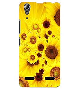 ColourCraft Beautiful Flowers Design Back Case Cover for LENOVO A6000 PLUS