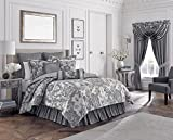Croscill Everly Comforter Set, WC King, Silver