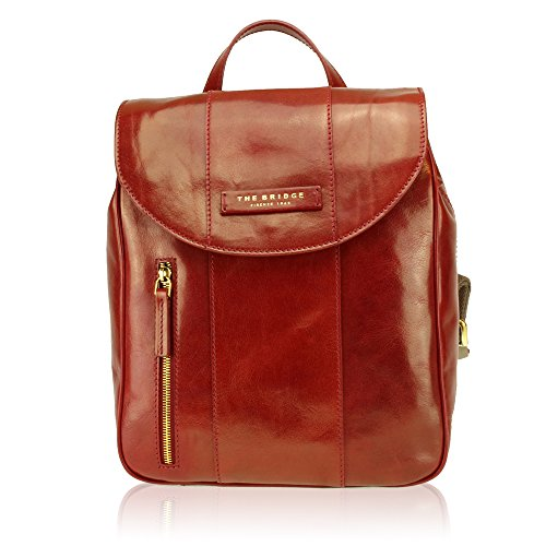 The Bridge Passpartout Donna Zaino pelle 32 cm rosso ribes